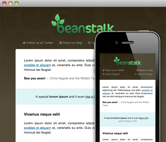 Beanstalk newsletters